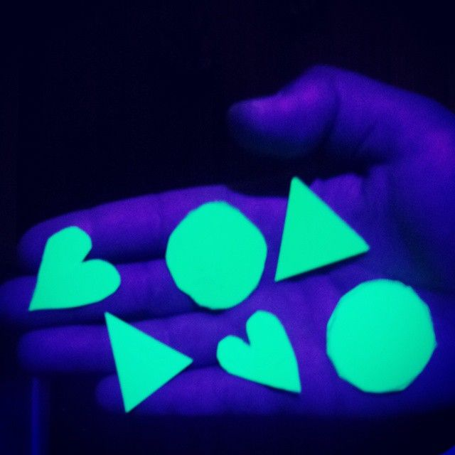 """A fun idea for kids UV parties, the photo shows fluro paper cut into shapes this could be used as UV confetti or taped onto walls ect. ▶ http://glowpaint.com.au ""   snapchat: glowpaint"