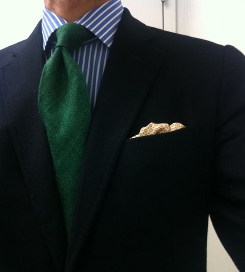 The power of the Green tie. Green Represents Wealth, Power and leadership.
