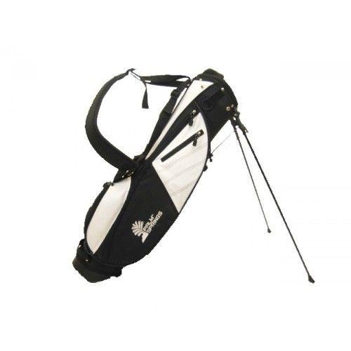PALM SPRINGS Sunday Golf Bag w/stand White/Black | Jet.com