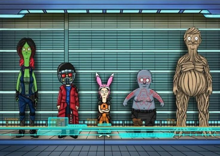 Bob's Burgers as Guardians of the Galaxy