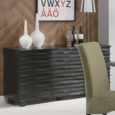 Coaster Fine Furniture Stanton ServerThe Stanton collection will give your contemporary casual dining and entertainment room a bold update.Unique wave designFeatures ample storage with cabinets and shelving