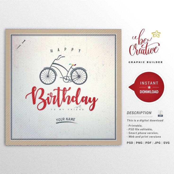 Happy Birthday Card, Vintage background, Dad greetings
