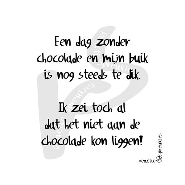 Nog steeds te dik #buik #chocolade #humor