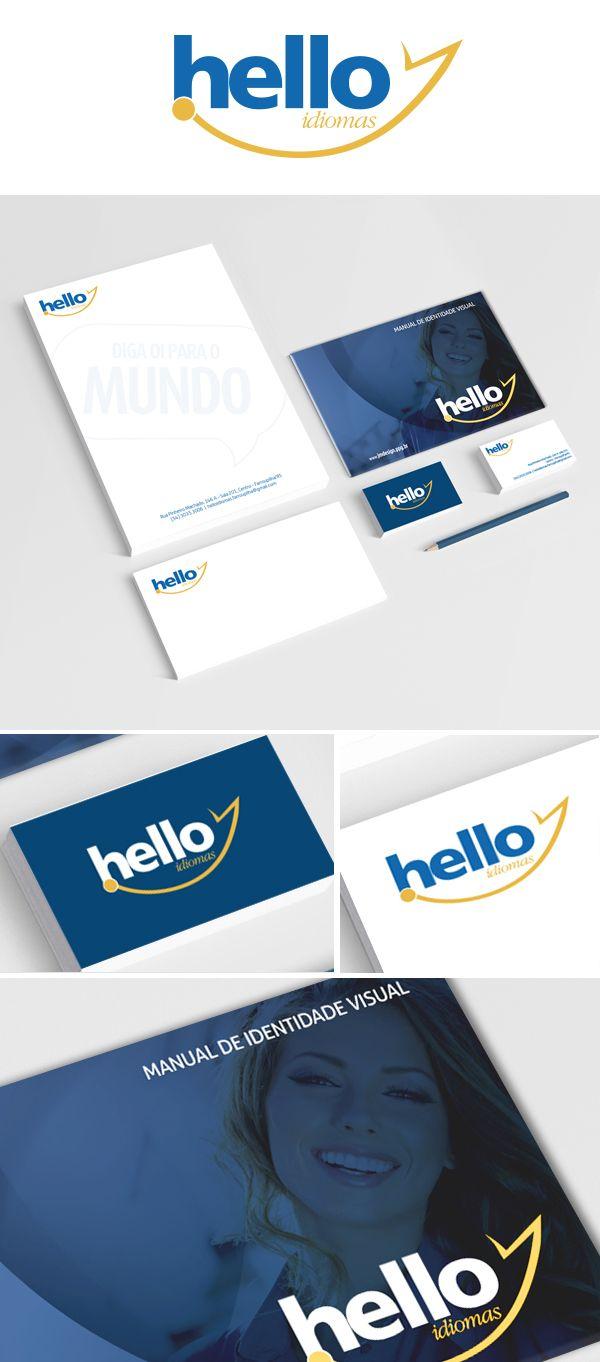 Branding e Material de expediente Hello Idiomas.