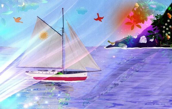 "SmudgeArt Digital Art Creation ""Enchanted Isle"""