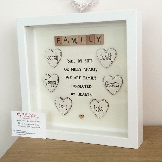 Family scrabble frame by MyBelovedBoutique on Etsy