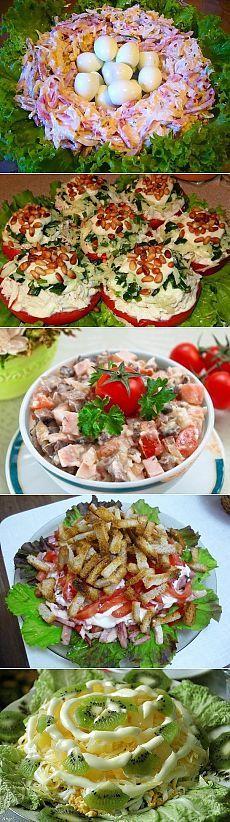 Десятка чудесных праздничных салатов