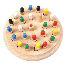 Лучший Подарок! Память младенца Развивающихся Настольная Игра Шахматы Красочные Деревянные Блоки(China (Mainland))