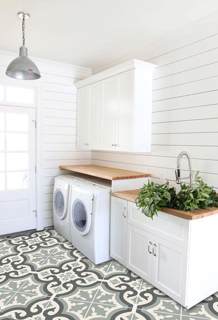 150 best tile stone images on pinterest bathrooms decor room vinyl floor tile sticker palermo pearl grey doublecrazyfo Images