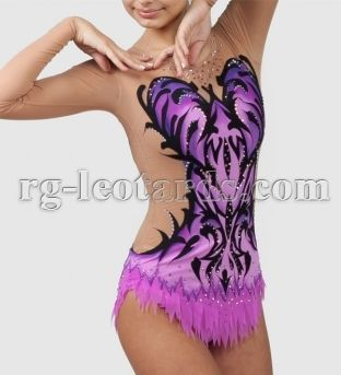 "Vanilla Sky Gymnastics Leotard! Everything is cheerful and wonderful in a vanilla sky. But there is always strength, will and hard work hidden behind a beautiful picture. There is an outer beauty and an inner power in the ""Vanilla Sky"" leotard. Together they create incredibly beautiful image. #rhythmicgymnastics #leotard #gimnastica"