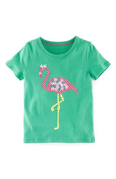 Mini Boden Ruffle Appliqué Tee (Toddler Girls, Little Girls & Big Girls) available at #Nordstrom