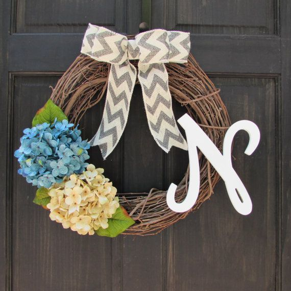 House Warming Gift Front Door Wreath by NewEnglandHomeAccent