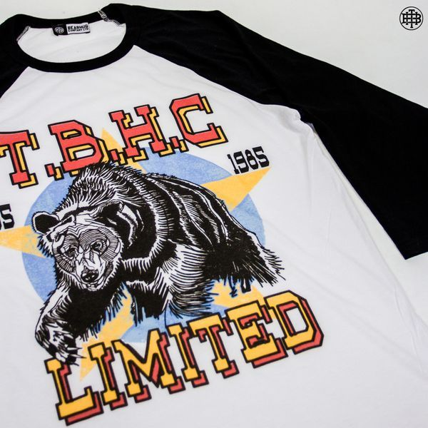 Bear Crawl Raglan is a great one for those cooler days! artwork by Luke Dixon