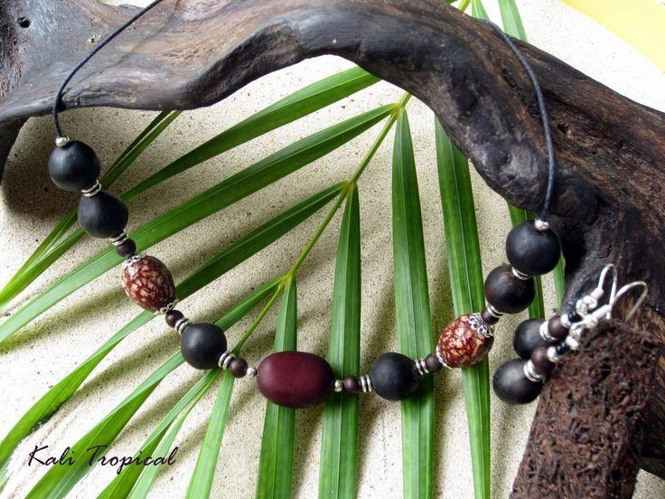 Parure courbaril, savonnette et palmier nain