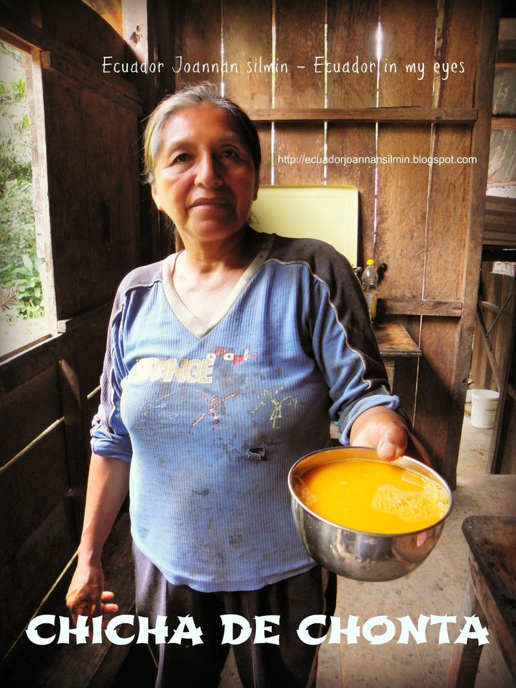 Ecuador Joannan silmin - Ecuador in my eyes: Chicha de chonta, or fermented chonta palm beer
