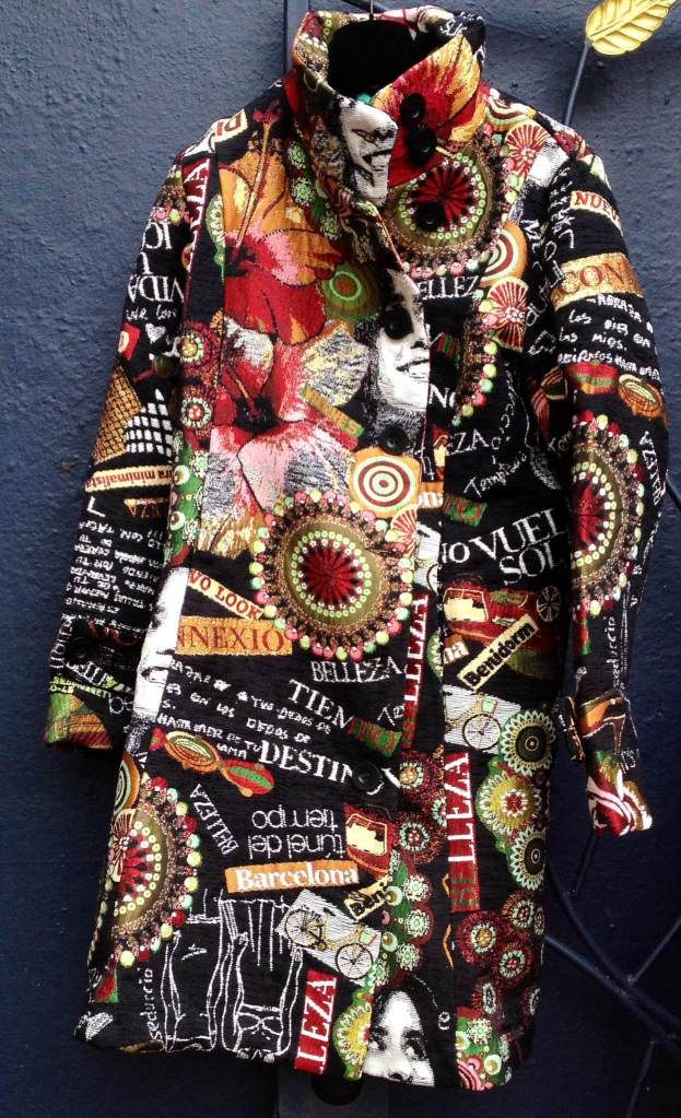"""The Desigual """"Collage Femina"""" coat, $369, is new for fall-winter 2013. photo by angelvancouver.com"""