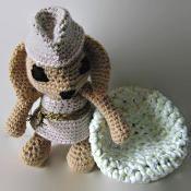 Crochet Bunny Rabbit with her pouf - via @Craftsy