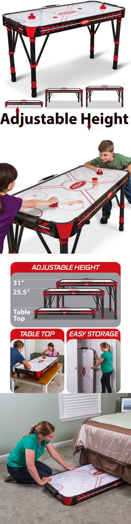 Air Hockey 36275: Air Hockey Table Led Scoring Sound Adjustable Height Hockey Games Setup Playtime -> BUY IT NOW ONLY: $132.02 on eBay!