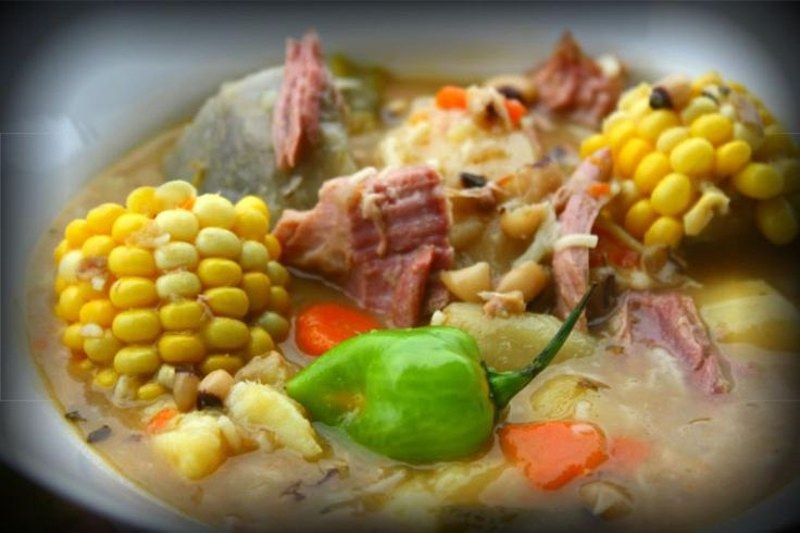 Caribbean style smoked turkey soup fortunately this is a