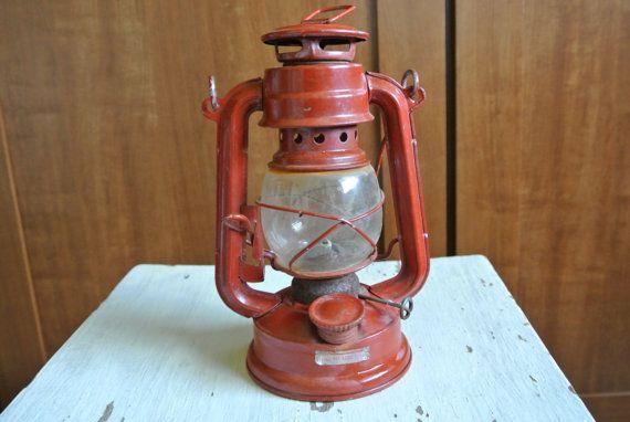 Vintage Red Train Lantern by polkadotali on Etsy, $15.00