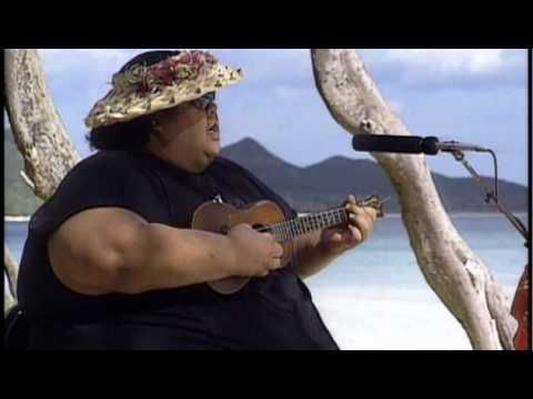 "Love this one of his better!....OFFICIAL Israel ""IZ"" Kamakawiwoʻole - White Sandy Beach Video"