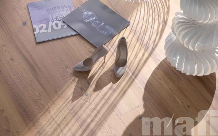 Timber Flooring | Larch Vulcano Brushed White Oil | mafi