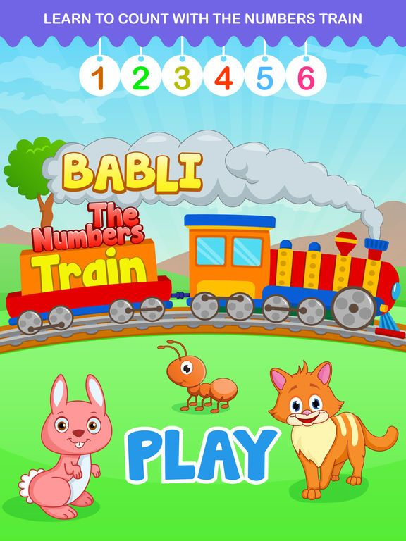 Babli The Numbers Train Free - Tap, Explore and Learn counting from 1 to 20 by Sachin Sachdeva