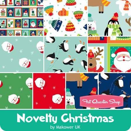 Novelty Christmas Fat Quarter Bundle<br/>Makower UK for Andover Fabrics