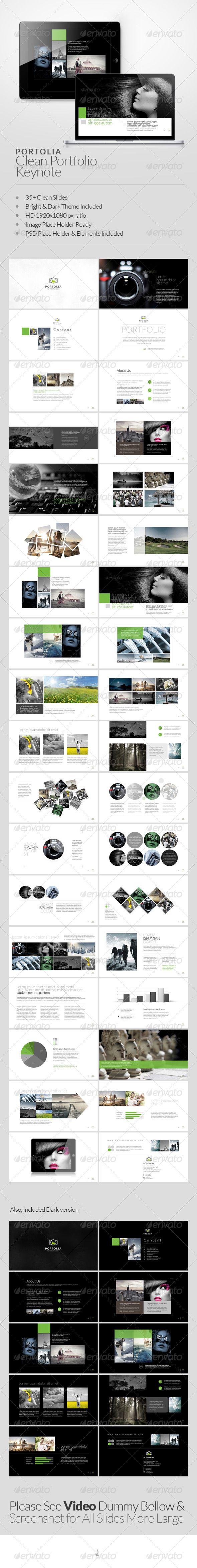 Portolia Multipurpose Clean Portfolio Keynote | Keynote theme / template
