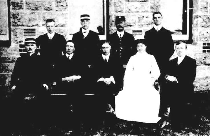 Administrative Staff of Claremont Hospital for the Insane, Western Australia, 1912