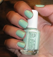 I'm wearing this right now.  I love the Essie colors.  <3