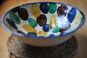 Giant Andalucian Fruit Bowl from Alhambra Tiles