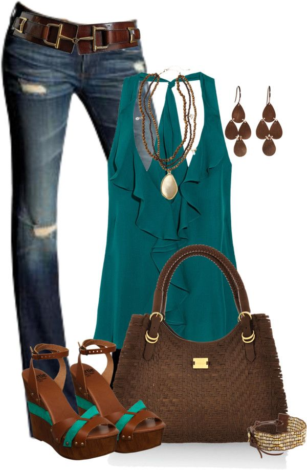 minus the shoes, i love thisShoes, Colors Combos, Casual Outfit, Fashion, Summer Outfit, Style, Clothing, Jeans, Cute Outfit