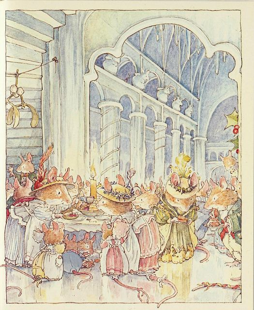 Mid Winter's Series. Brambly hedge by Jill Barklem. Illustration from the books.