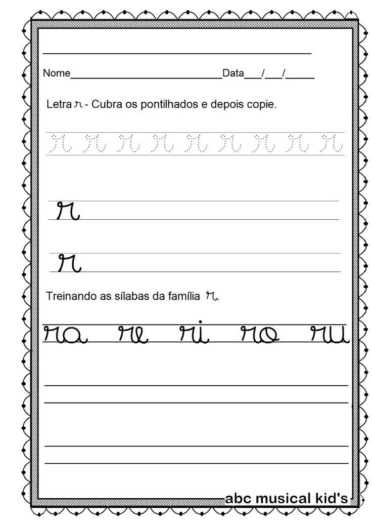 ATIVIDADES DE EDUCAÇÃO INFANTIL  E MUSICALIZAÇÃO INFANTIL: Atividades com a letra r