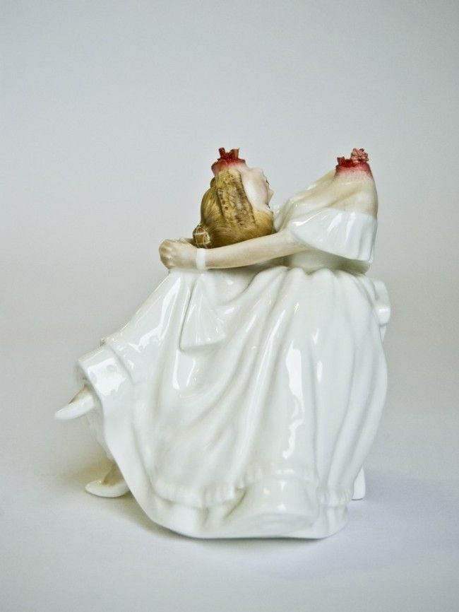 Bloody sculptures by Jessica Harrison
