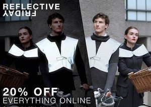 #sale #20%off #now #onlineshopping #buynow at: Henrichs.co.uk #henrichsdesign #reflective #cycling #fashion #hivis #besafe #urban #travel #running #glowinginthedark #design #womenswear #menswear #chic