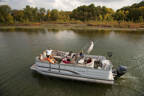 2013 sylvan 8522 mirage cruise n fish le pontoon boat for Sylvan fishing boats