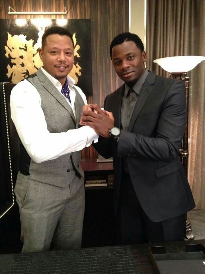 Empire TV Series - Lucious with Malcolm, the head of Empire Entertainment Security