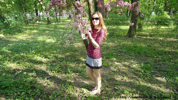 OOTD: Rochita Tina R cu imprimeu - Lory's Blog