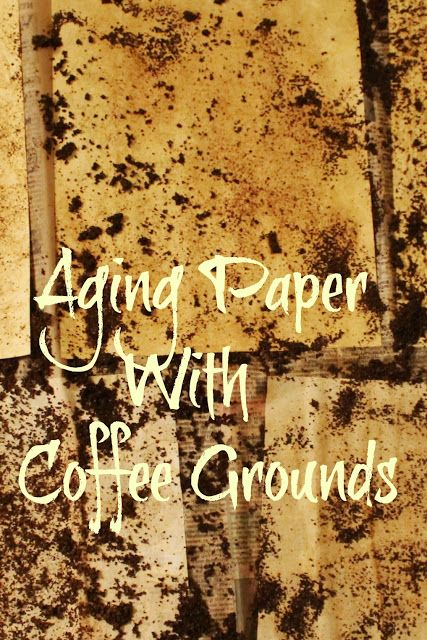 Aging Paper With Coffee Grounds