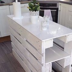 DIY Pallets kitchen island: