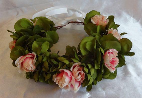 Flower Crown Bridal Hair Wedding Hair Floral Crown by lovelygifts