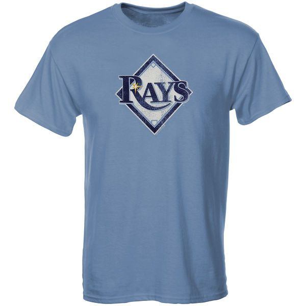 Tampa Bay Rays Youth Distressed Logo T-Shirt – Light Blue - $14.99