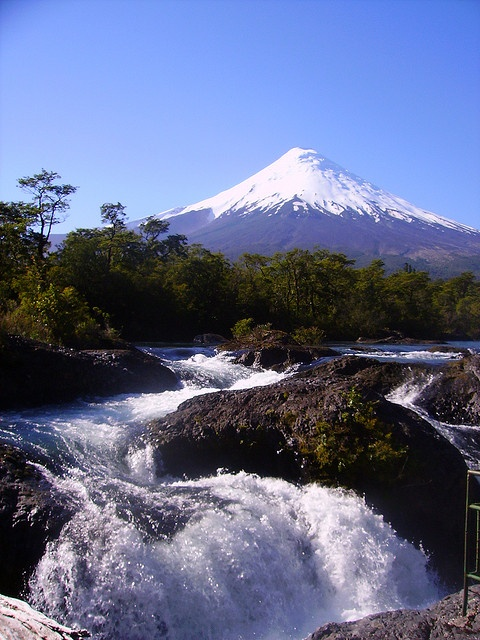 Petrohue Falls-Chile.  Every time I see it...Papi is smiling to me ♡