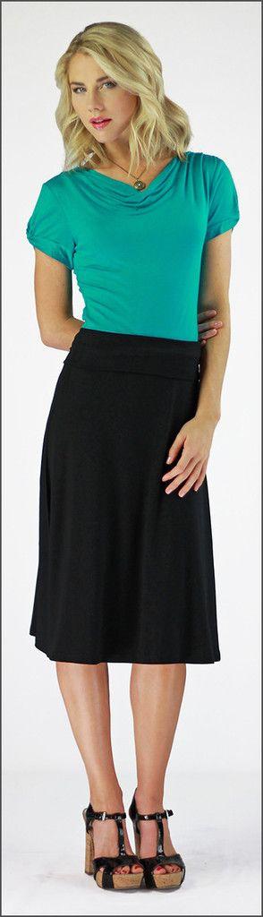Midi Skirt (Black)
