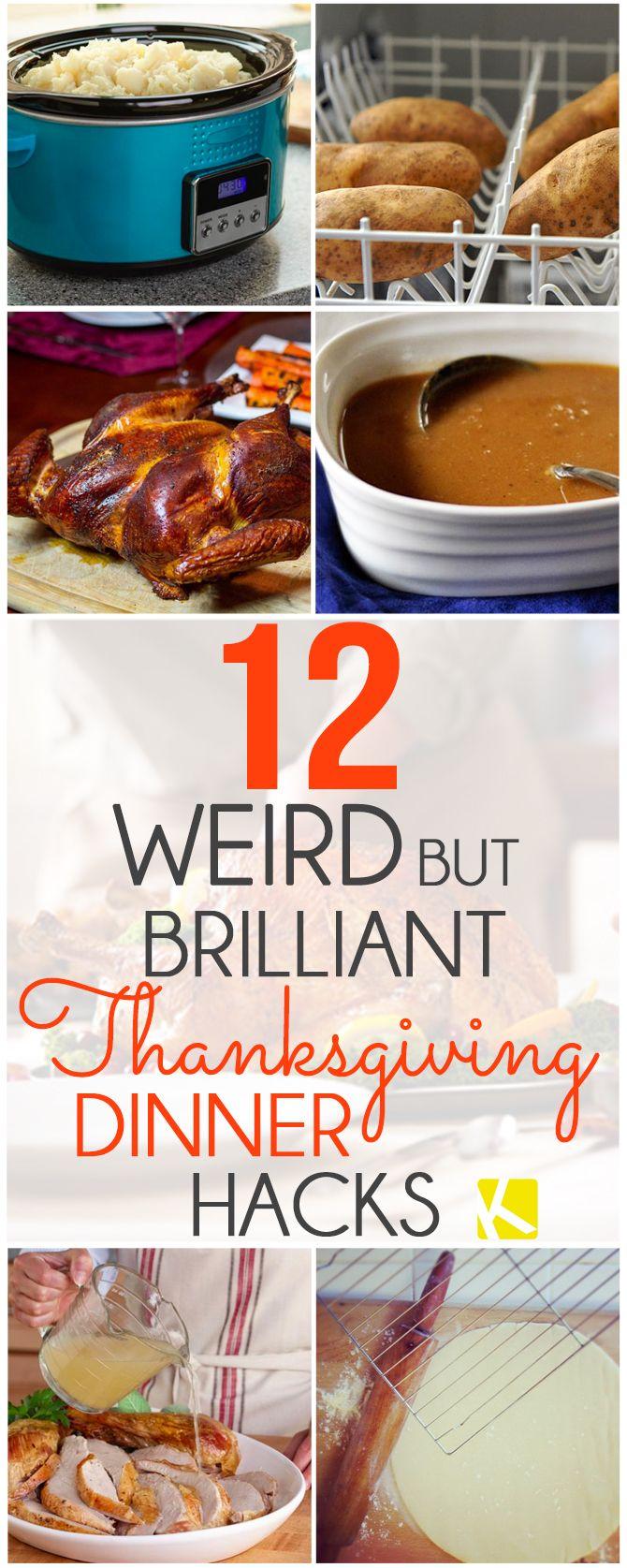 12 Weird But Brilliant Thanksgiving Dinner Hacks