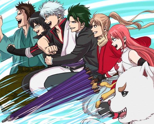 Gintama ~~ Hurry onwards, soldiers! :: Sakata Gintoki, Hijikata Toushirou, Okita Sougo, Shimura Shinpachi, Kagura, Isao Kondo, Sadaharu