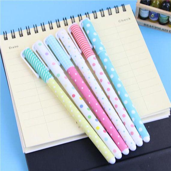 Ensemble de stylos à Gel jolie 6 par SNSupplies sur Etsy