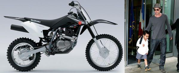 Brad Pitt buys son Maddox a Suzuki dirt bike as birthday present